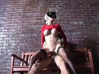 Huge-titted kitty Delta milky gets pulverized deep on put stress bench porn tube
