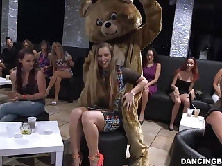 CFNM party girls drag inflate and fuck male strippers