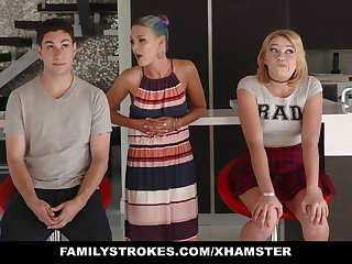 FamilyStrokes - Scavenger Hunting with sis turns licentious