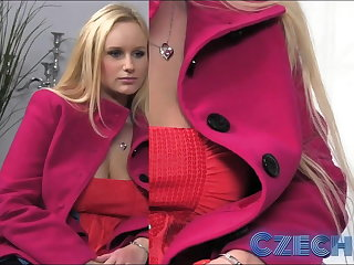 Czech Busty Blonde gets sprayed everywhere fiasco in Casting