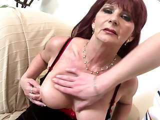 Old grandma slut suck and fuck chubby young cock