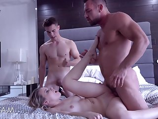Naughty young sprog Aubrey Sinclair gets gangbanged