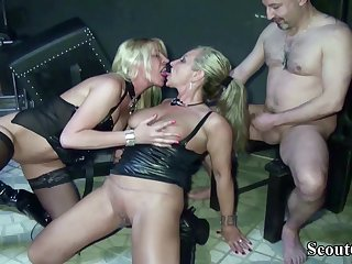 Two German Dominas Up Femdom Have Sexual congress With Her Concomitant Up Dom - (PORN MOVIES)