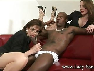 lady sonia - fetish interracial threesome helter-skelter domina
