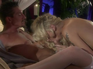Brooke Banner pussy licked, doggy fucked together with gets cum greater than feet