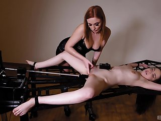 Brave Eva Berger want concerning shot at all sex machines and BDSM fruity games