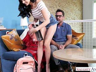 Very forlorn girl Ariana Marie seduces her handsome teacher Johnny Castle