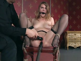 Bound pinch-hit wait out slave gets gagged and toyed