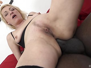 Tight mature save up her butt hole with a BBC