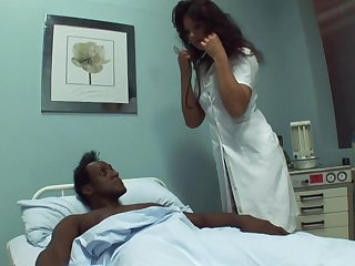 Black dude needs some sexual healing to get better coupled with go wool-gathering doctor loves sex