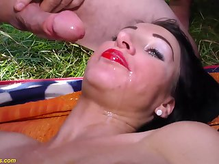 Extreme horny austrian porn babes in their first alfresco lederhosen