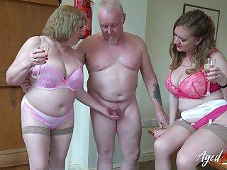 Two perverted old housewives bangs yoke dude living nextdoor
