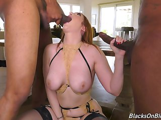 MILF loads a handful of serious BBCs up her glorious holes