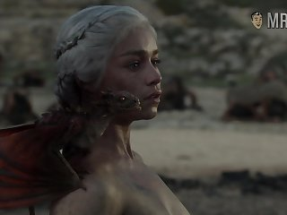 Completely naked Mother of Dragons from game Be beneficial to Thrones