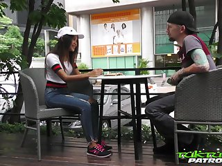 Lecherous Thai student Mint gets intimate take barely expose guy