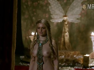 Vikings repute Alicia Agneson poses topless as she shows off her big tits