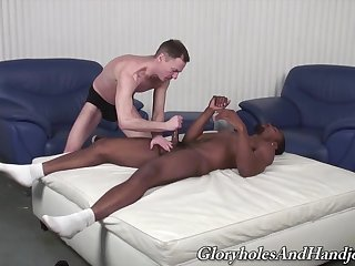 Deadly gay loves treats himself with a dose of white dong