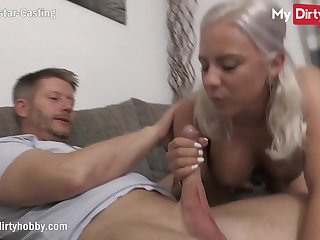 MyDirtyHobby - Gorgeous busty blonde does will not hear of tricky casting