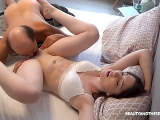 Alluring make obsolete Mia Evans knows how to please her man