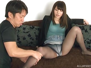 Closeup video be expeditious for a dude pleasuring pussy be expeditious for busty Narutsaki Ran