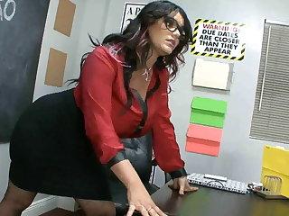 Angelina's footjob mishmash