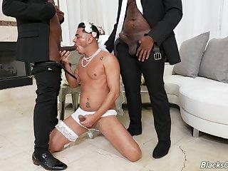 Kinky gay threeway roughly Avatar Akiya, Cesar Xes and Micah Martinez