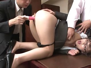 Manager shares his steamy assistant with his mate in steamy threesome poke porntube