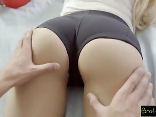BrattySis - Tricked Insane Sister And Teenager Buddy Into Three Showing