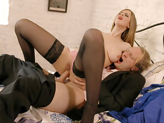 Busty blonde rides cock in a hot anal flick
