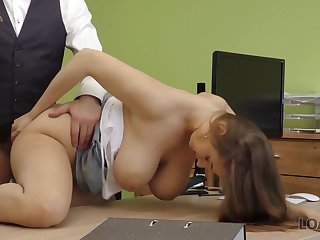 Hot sex around the compromise office of Suzie Sun and major manager