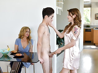 FamilyStrokes - Stepsiblings Gets Caught Going to bed by Stepmom