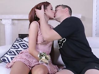 Pussy lips of alluring live-in lover Vanna Bardot are hard to believe doggy style